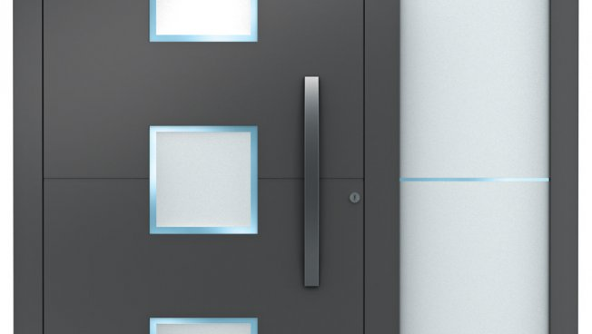 aluminium haust ren sedor modern mit seitenteil weru. Black Bedroom Furniture Sets. Home Design Ideas